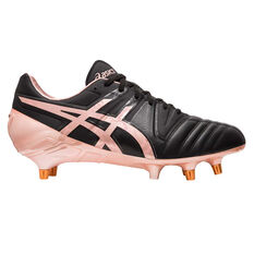 Asics GEL Lethal Tight Five Rugby Boots Black / Rose Gold US Mens 8 / Womens 9.5, Black / Rose Gold, rebel_hi-res