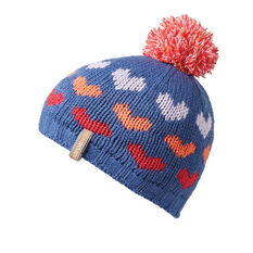Rojo Girls Hearts Beanie Navy OSFA, , rebel_hi-res