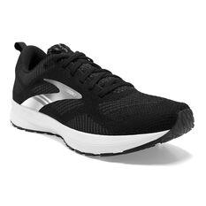 Brooks Revel 5 Womens Running Shoes, Black/White, rebel_hi-res