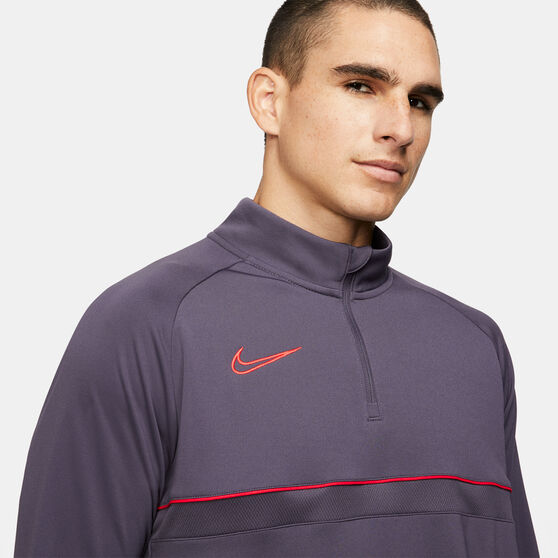 Nike Mens Dri-FIT Academy 21 Soccer Drill Top, Purple, rebel_hi-res