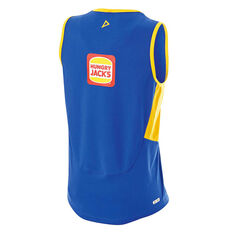 West Coast Eagles 2019 Mens Training Singlet Blue / Yellow S, Blue / Yellow, rebel_hi-res