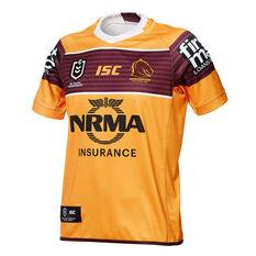 Brisbane Broncos 2019 Mens Away Jersey Yellow / Maroon S, Yellow / Maroon, rebel_hi-res