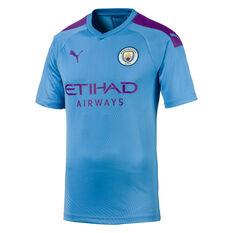 Manchester City FC 2019/20 Mens Home Jersey Blue / Purple S, Blue / Purple, rebel_hi-res