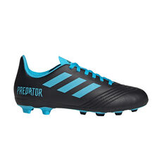 adidas Predator 19.4 Kids FXG Football Boots Black / Blue US 11, Black / Blue, rebel_hi-res