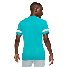 Nike Mens Dri-FIT Academy Short Sleeve Soccer Tee Blue XS, Blue, rebel_hi-res