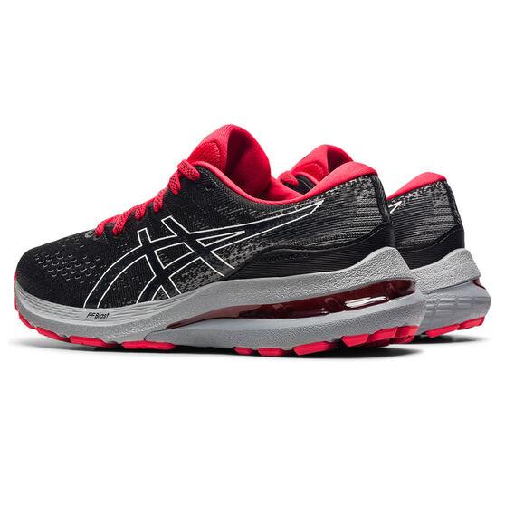 Asics GEL Kayano 28 Kids Running Shoes, Black/White, rebel_hi-res