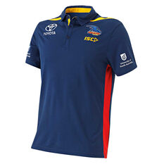 Adelaide Crows 2019 Mens Media Polo Navy S, Navy, rebel_hi-res