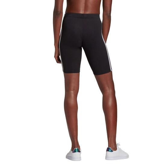 adidas Womens Essentials 3-Stripes Bike Shorts, Black, rebel_hi-res