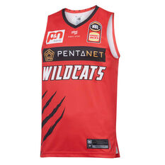 Perth Wildcats 2019/20 Mens Home Jersey Red S, Red, rebel_hi-res
