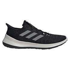 adidas Sensebounce+ Mens Running Shoes Black / White US 7, Black / White, rebel_hi-res