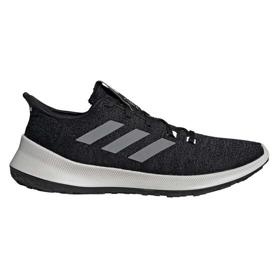 adidas Sensebounce+ Mens Running Shoes, Black / White, rebel_hi-res