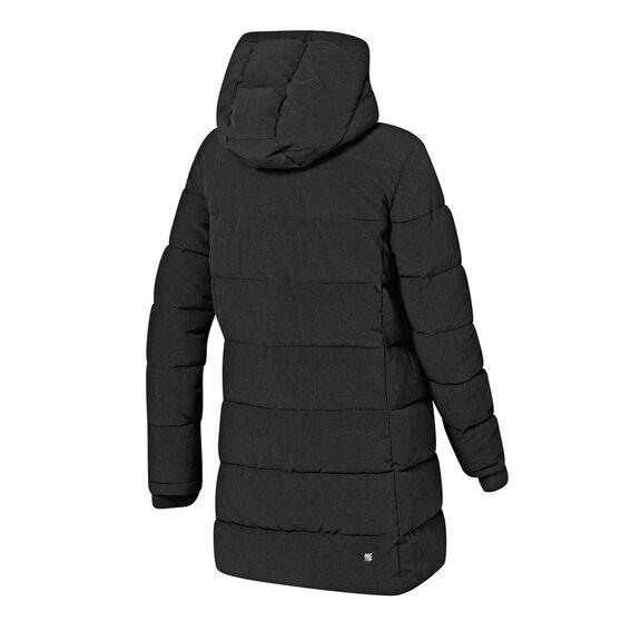 Ell & Voo Womens Analeigh Longline Hooded Puffer Jacket Black S, Black, rebel_hi-res