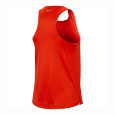 Nike Womens Swoosh Running Tank Orange XS, Orange, rebel_hi-res