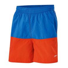 Speedo Boys Panel Sold Leisure Watershorts Blue / Orange S, Blue / Orange, rebel_hi-res
