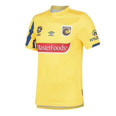 Central Coast Mariners 2019/20 Mens Home Jersey Gold S, Gold, rebel_hi-res