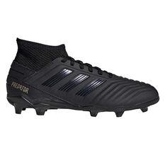 adidas Predator 19.3 Kids Football Boots Black / Gold US 11, Black / Gold, rebel_hi-res