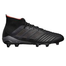 adidas Predator 18.1 Mens Football Boots Black / Orange US 7 Adult, Black / Orange, rebel_hi-res