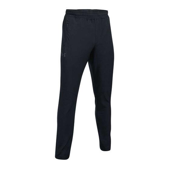 Under Armour Mens WG Woven Training Pants, Black, rebel_hi-res