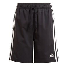 adidas Boys Essentials 3-Stripes Chelsea Shorts Black 4, Black, rebel_hi-res
