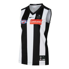 Collingwood Magpies 2021 Womens Home Guernsey Black/White XS, , rebel_hi-res