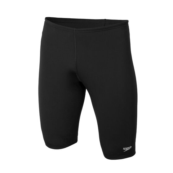 Speedo Mens Jammer Swim Shorts Black 18, Black, rebel_hi-res