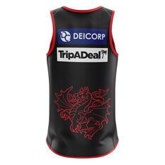 St George Illawarra Dragons 2020 Mens Training Tank Black S, Black, rebel_hi-res