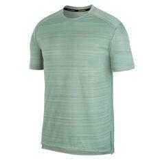 Nike Mens Dri-FIT Miler Running Tee Green S, Green, rebel_hi-res
