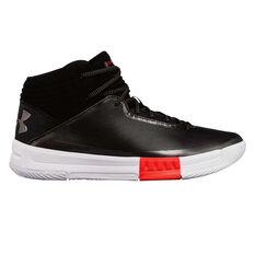 Under Armour Lockdown 2 Mens Basketball Shoes Black / White US 7, Black / White, rebel_hi-res