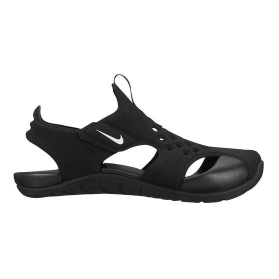 Nike Sunray Protect 2 Junior Kids Sandals, Black / White, rebel_hi-res