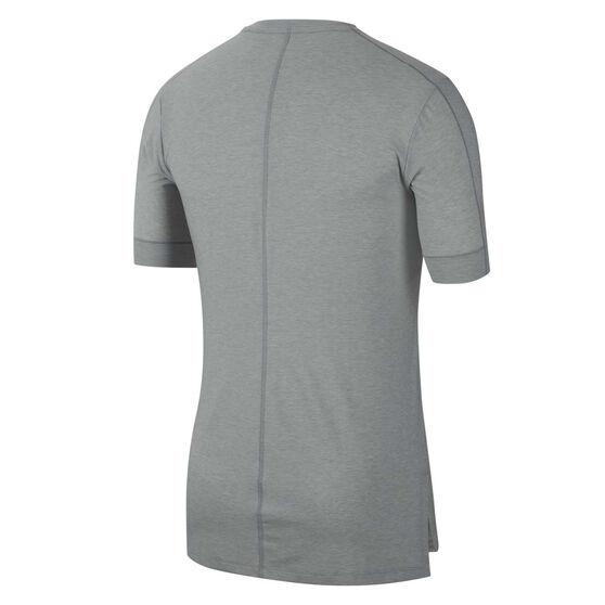 Nike Mens Dri-FIT Yoga Tee, Grey, rebel_hi-res