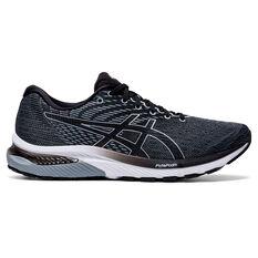Asics GEL Cumulus 22 2E Mens Running Shoes Grey/Black US 8, Grey/Black, rebel_hi-res