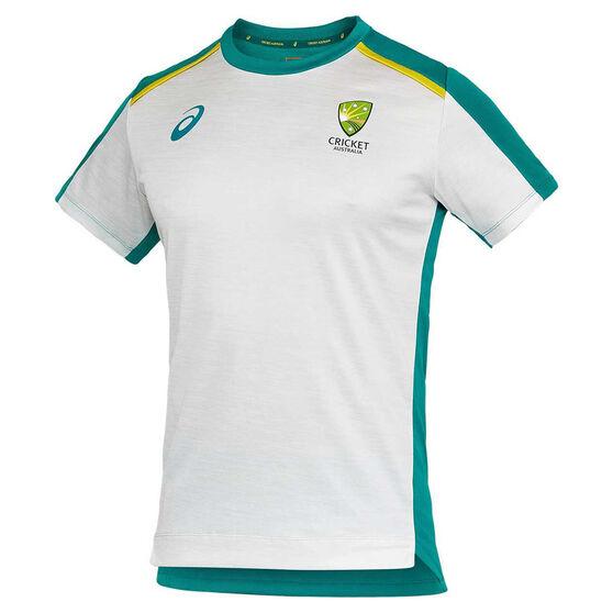 Cricket Australia 2020/21 Mens Training Tee, Grey, rebel_hi-res