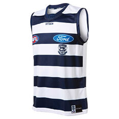 Geelong Cats 2019 Mens Home Guernsey Blue / White S, Blue / White, rebel_hi-res