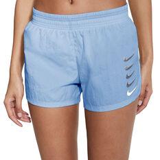 Nike Womens Swoosh Run Shorts, Blue, rebel_hi-res