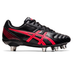 Asics Lethal Tackle Rugby Boots Black/Red US Mens 8 / Womens 9.5, Black/Red, rebel_hi-res