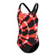 Speedo Girls Endurance Leaderback Swimsuit Black 6, Black, rebel_hi-res