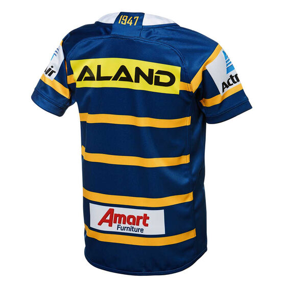 Parramatta Eels 2019 Kids Home Jersey, Blue / Yellow, rebel_hi-res
