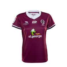 Queensland Reds 2020 Womens Home Jersey Red 8, Red, rebel_hi-res