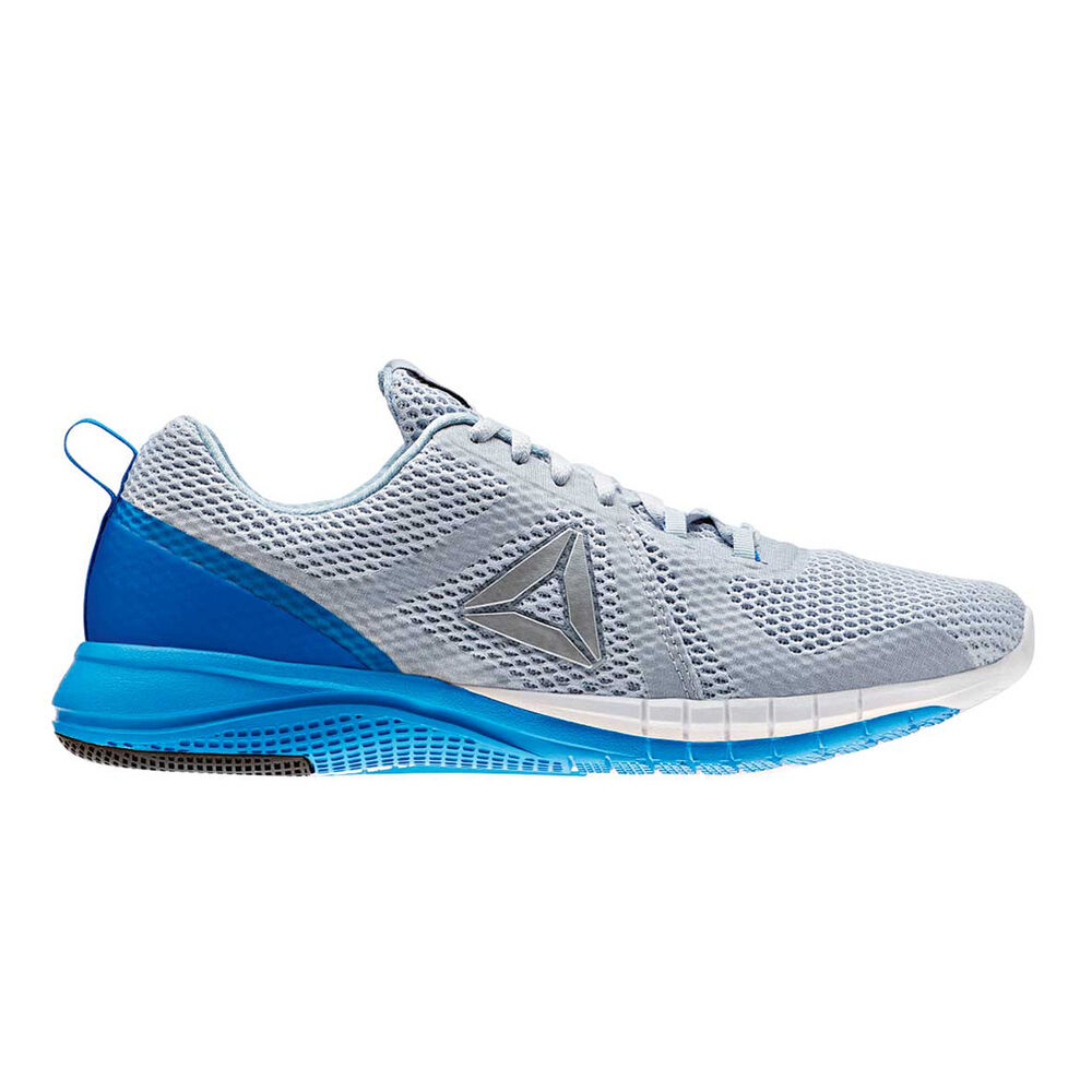 2c1fec196fc Reebok Print Run 2.0 Mens Running Shoes Grey   Blue US 12