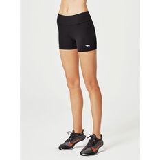 Running Bare Womens High Rise Sport Tights, Black, rebel_hi-res