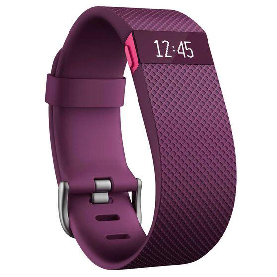 Fitbit Charge HR Activity Tracker Plum S, Plum, rebel_hi-res