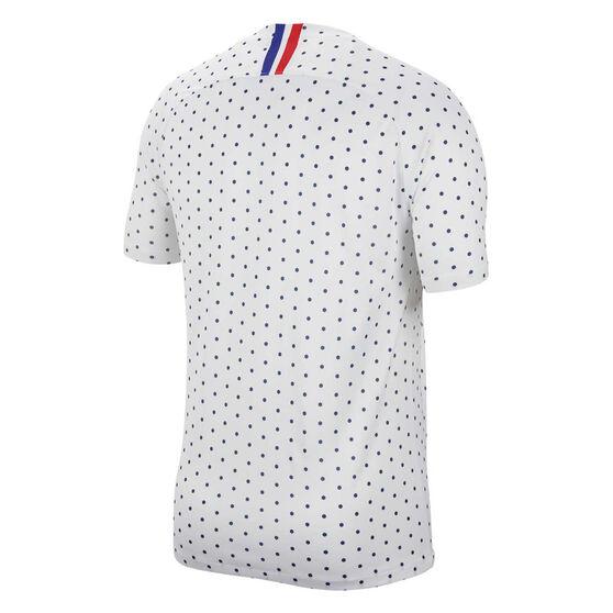 France 2019 Womens Away Jersey, White / Blue, rebel_hi-res