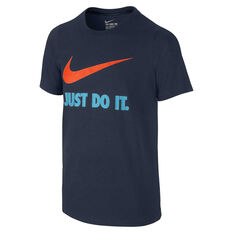 Nike Boys Just Do It Swoosh Tee Black X S, Black, rebel_hi-res