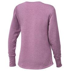 Ell & Voo Womens Amanda Crew Sweatshirt Purple XXS, Purple, rebel_hi-res