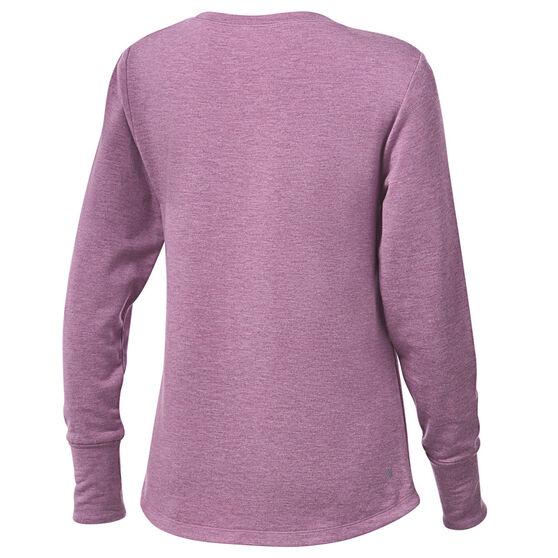 Ell & Voo Womens Amanda Crew Sweatshirt, Purple, rebel_hi-res