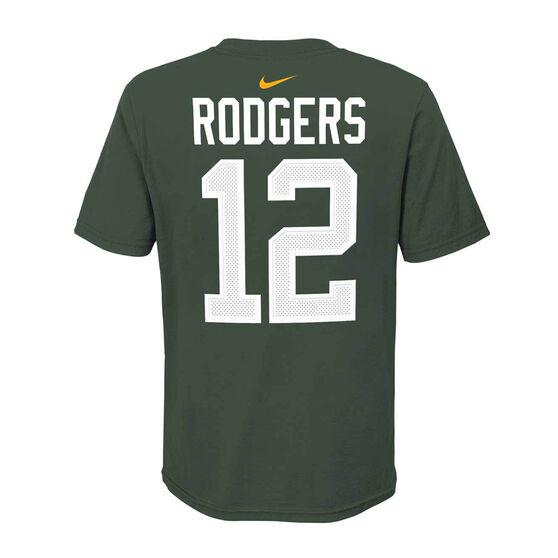 Green Bay Packers Aaron Rodgers 2020 Kids Essential Tee, Green, rebel_hi-res