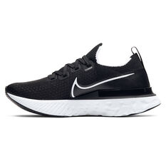 Nike React Infinity Run Flyknit Womens Running Shoes Black / White US 6, Black / White, rebel_hi-res
