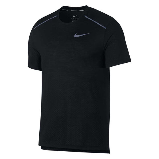 Nike Mens Breathe Rise 365 Running Tee, Black, rebel_hi-res