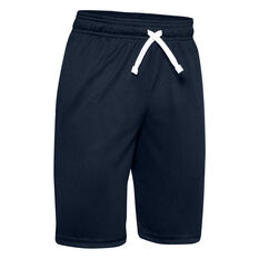Under Armour Boys Prototype Wordmark Shorts Blue XS, Blue, rebel_hi-res