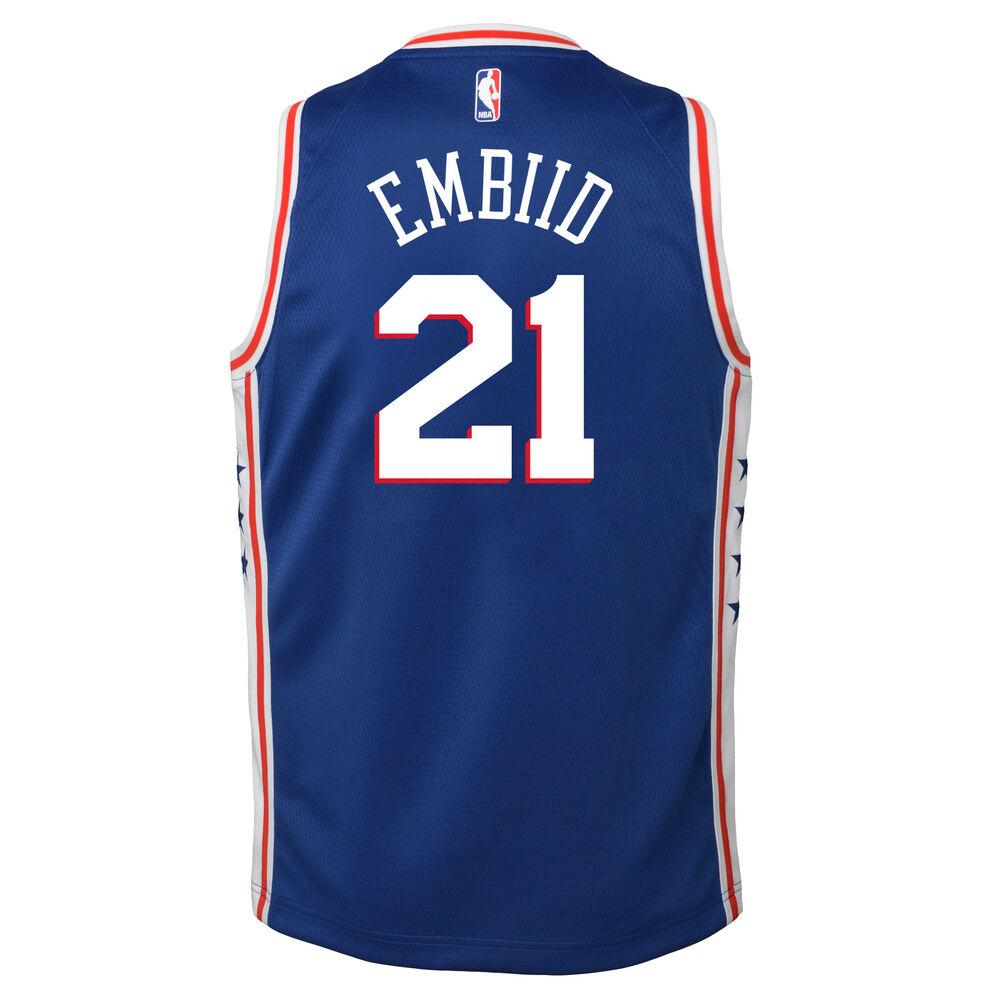 super popular 32126 43ae8 Nike Philadelphia 76ers Joel Embiid Icon 2019 Swingman Jersey